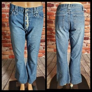 Vintage Guess Button Fly High Rise Jeans Size 30